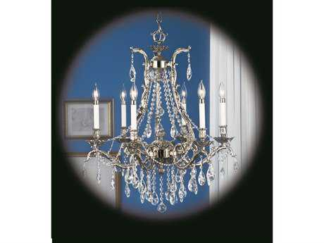 Framburg Czarina Six-Light 28'' Wide Grand Chandelier RM8426