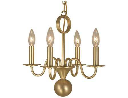Framburg German Jamestown Four-Light 14'' Wide Mini Chandelier RM2244