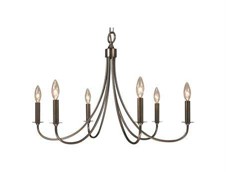 Framburg Maisonette Six-Light 28'' Wide Chandelier RM1006