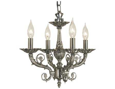 Framburg Napoleonic Four-Light 15'' Wide Mini Chandelier RM2874