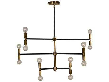 Framburg Parallax 12-Light 38'' Wide Chandelier RM4886