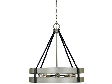 Framburg Satin Pewter / Matte Black 8-light 22'' Wide Pendant RM5386