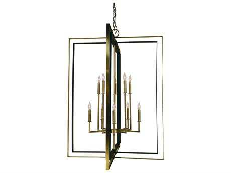 Framburg Symmetry Ten-Light 33'' Wide Chandelier RM4868