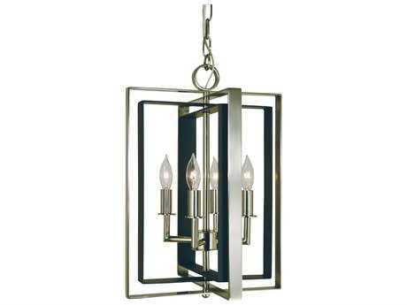 Framburg Symmetry Four-Light 12'' Wide Mini Chandelier
