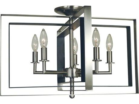 Framburg Symmetry 5-light 22'' Wide Semi-Flush Mount