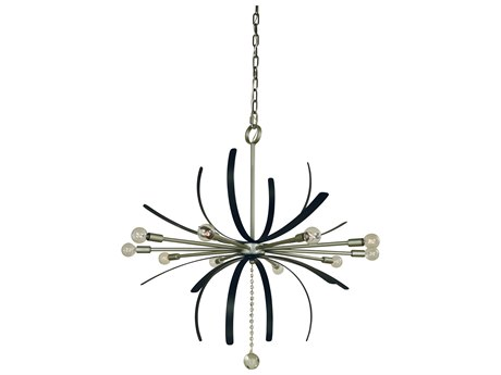 Framburg Victoria Satin Pewter / Matte Black 10-light 36'' Wide Pendant RM5432