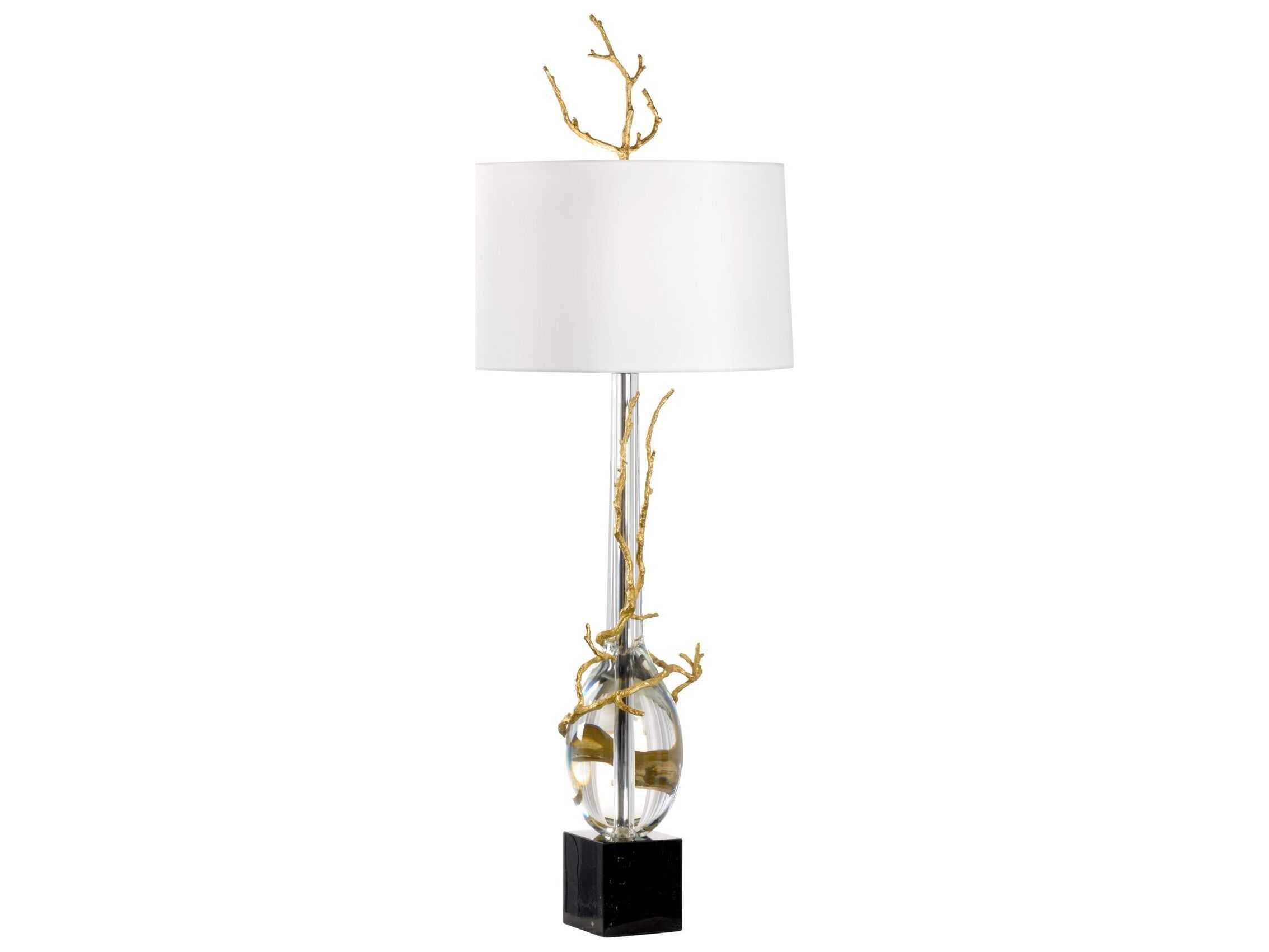 Antique Crystal Floor Lamp