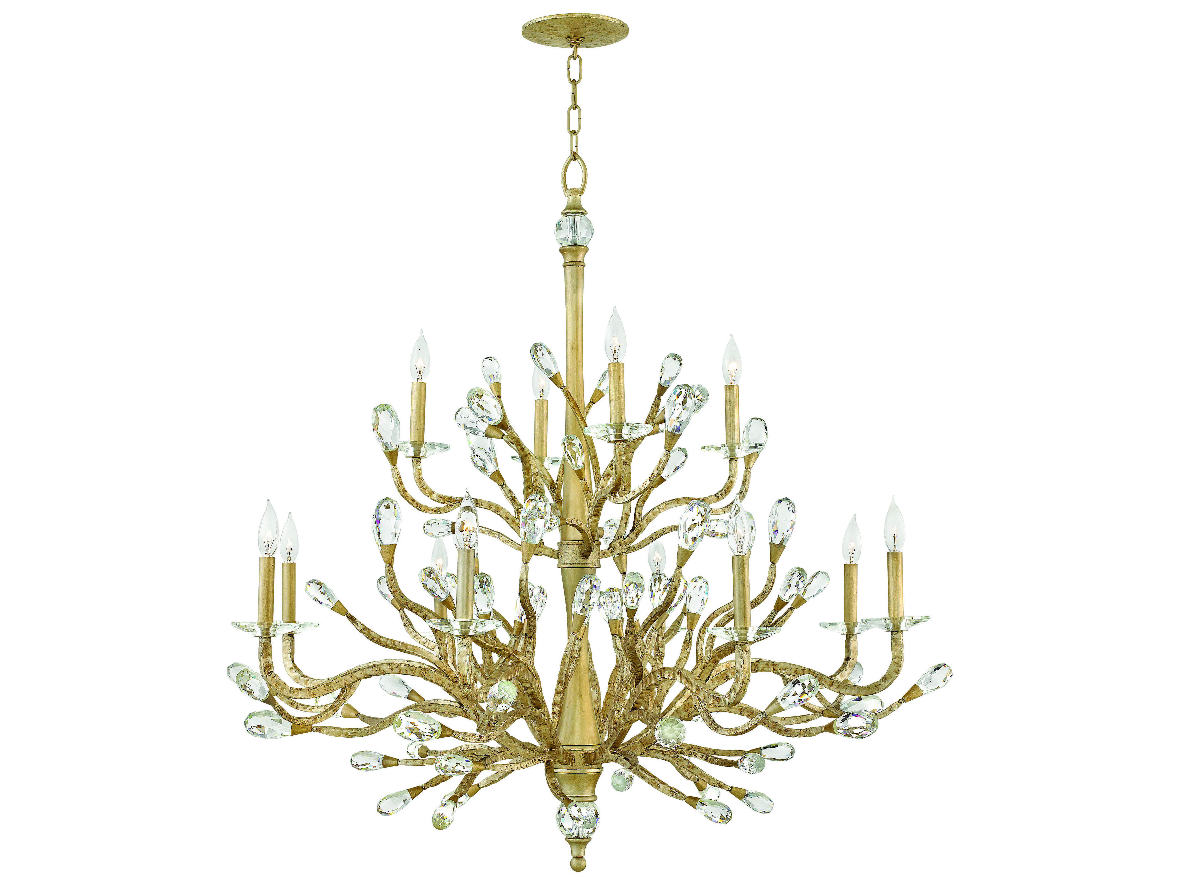 Fredrick Ramond Eve Champagne Gold 12 Light 49 Wide