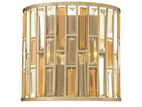 Fredrick Ramond Gemma Silver Leaf Two-Light Wall Sconce FDFR33732SLF