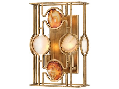 Fredrick Ramond Lucia Burnished Gold Two-Light 9'' Wide Wall Sconce FDFR40142BNG
