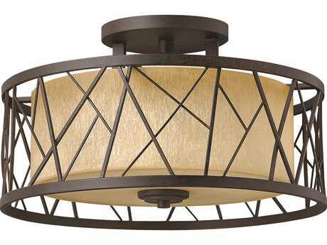 Fredrick Ramond Nest Oil Rubbed Bronze Three-Light Semi-Flush Mount Light FDFR41622ORB