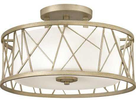 Fredrick Ramond Nest Silver Leaf Three-Light Semi-Flush Mount Light FDFR41622SLF