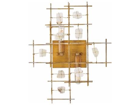 Fredrick Ramond Petra Luster Gold Two-Light 18'' Wide Wall Sconce FDFR47882LGD