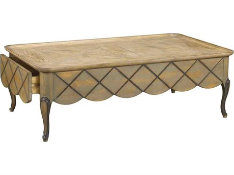 French Heritage Avenue Age Oak with Cold Grey 51''L x 34''W Rectangular Lyon Coffee Table FREA23401004OAKG