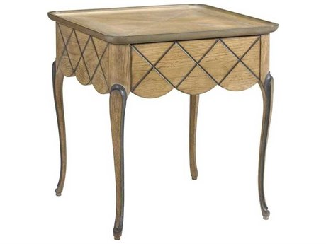 French Heritage Avenue Age Oak with Cold Grey 25''L x 26''W Rectangular Lyon End Table FREA23411001OAKG