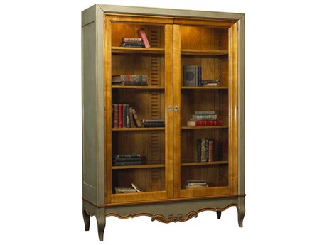 French Heritage Avenue Aged Cherry Baroque Vitrine Bookcase FREA2322402ACHG
