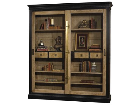 French Heritage Avenue Aged Oak & Black Elliant Bookcase FREA23491001AOBK
