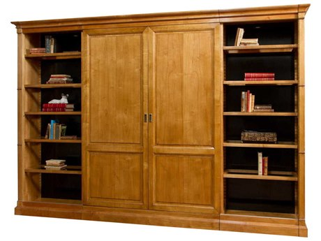 French Heritage Avenue Aged Cherry Bercy Sliding Door Bookcase FREA2349407ACH