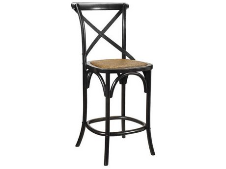 French Heritage Bosquet Black Bosquet Counter Stool FREM24261001BLK