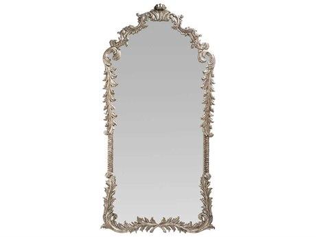 French Heritage Decorative Silver Leaf 43''W x 87''H Louis XV Floor Mirror FREM8704214SLV