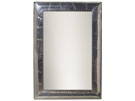 French Heritage Decorative Silver Leaf 38''W x 53''H Rectangular Ferault Wall Mirror FREM8704108SLV