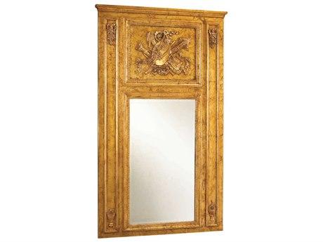French Heritage Decorative Gold Leaf 36''W x 61''H Rectangular Quatuor Wall Mirror FREM8704209GLD