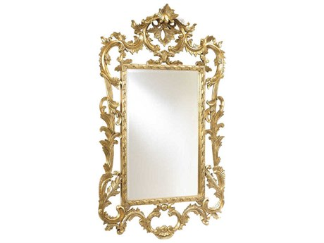 French Heritage Decorative Gold Leaf 36''W x 60''H Louis XV Wall Mirror FREM8704212GLD