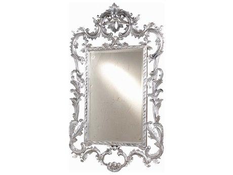 French Heritage Decorative Silver Leaf 36''W x 60''H Louis XV Wall Mirror FREM8704212SLV