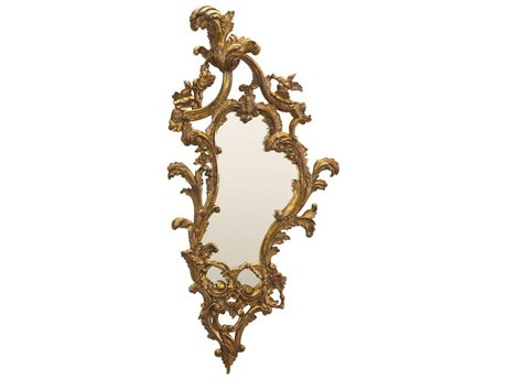 French Heritage Decorative Gold Leaf 20''W x 42''H Saville Wall Mirror (Set of Two) FREM8704218GLD