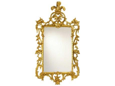French Heritage Decorative Gold Leaf 32''W x 58''H LaGaude Wall Mirror FREM8704219GLD