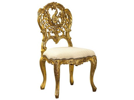 French Heritage Elysee Gold Leaf Concerto Dining Side Chair