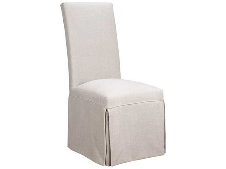 French Heritage Elysee Bistro-Oyster Geraldine Slip Cover Dining Side Chair FREM7228610OYST