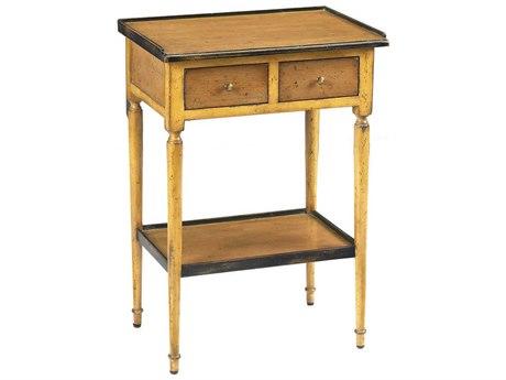 French Heritage Fleix Yellow 18''L x 13''W Rectangular Accent End Table FREMFL41088YEL