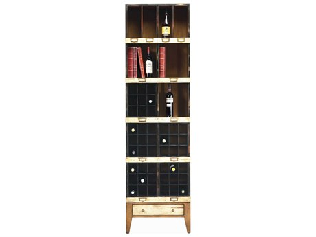 French Heritage Fleix Beige, Black & Light Cherry Bookcase FREMFL49082BBEI