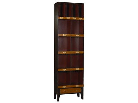French Heritage Fleix Black & Red Bookcase FREMFL49082BBKR