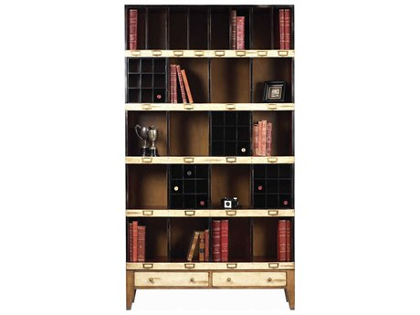 French Heritage Fleix Beige, Black & Light Cherry Bookcase FREMFL49082BEI