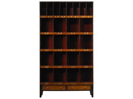 French Heritage Fleix Black & Red Bookcase FREMFL49082BKR