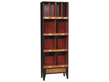 French Heritage Fleix Black & Red Bookcase FREMFL49082CBKR