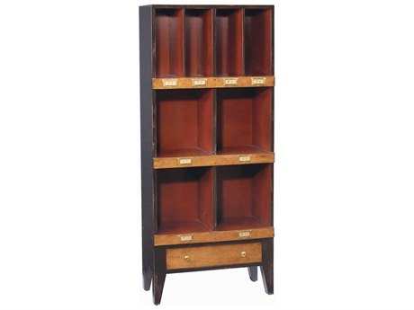 French Heritage Fleix Black & Red Bookcase FREMFL49082DBKR
