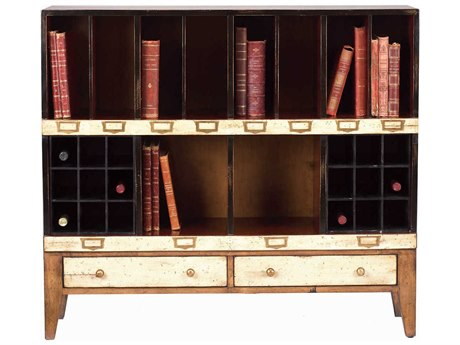 French Heritage Fleix Beige, Black & Light Cherry Bookcase FREMFL49082EBEI