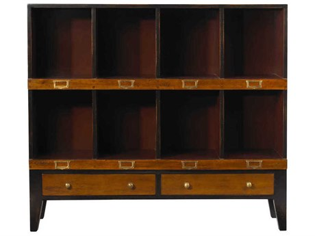 French Heritage Fleix Black & Red Bookcase FREMFL49082EBKR