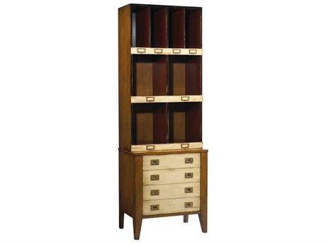French Heritage Fleix Beige, Black & Light Cherry Bookcase FREMFL50082CBEI