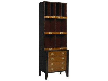 French Heritage Fleix Black, Red & Light Cherry Bookcase FREMFL50082CBKR