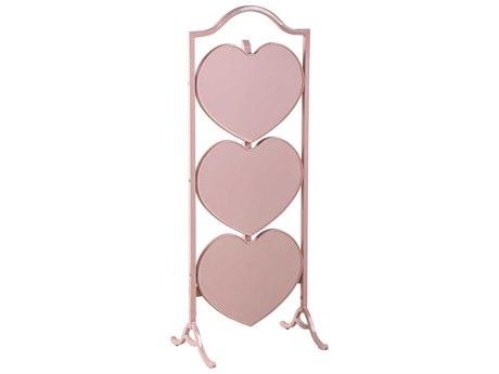 French Heritage Fold Pink Heart Shape Etagere Rack FREMFT90451PINK