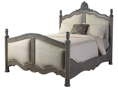 French Heritage Modernly Classic Salvage Grey Surene Queen Size Poster Bed FREM20101202SLGY