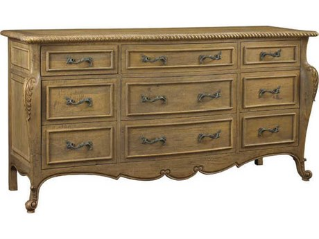 French Heritage Modernly Classic Nine-Drawers Monceau Triple Dresser