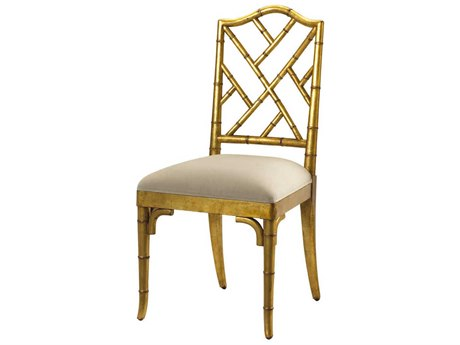 French Heritage Pyrenees Gold Leaf Moselle Dining Side Chair FREM2528201GL