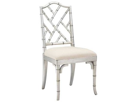 French Heritage Pyrenees Silver Leaf Moselle Dining Side Chair FREM2528201SLV