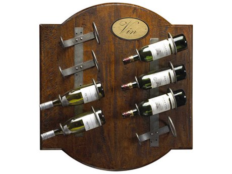 French Heritage Pyrenees Coffee Brown Eight-Bottles Garonne Square Wine Rack FREM25591208CBAI