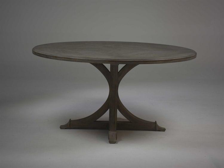 Gabby Adams Vintage Oak 60 Wide Round Dining Table Sch 155280